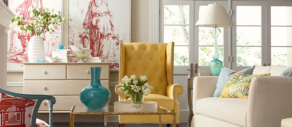 C.R. Laine yellow chair
