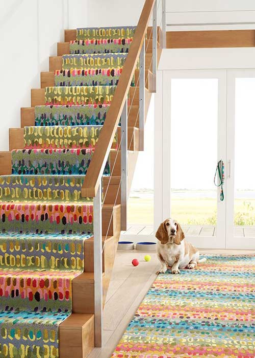 Colorful rug and carpeting