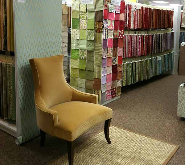 Chair and fabric selection at Designers Market